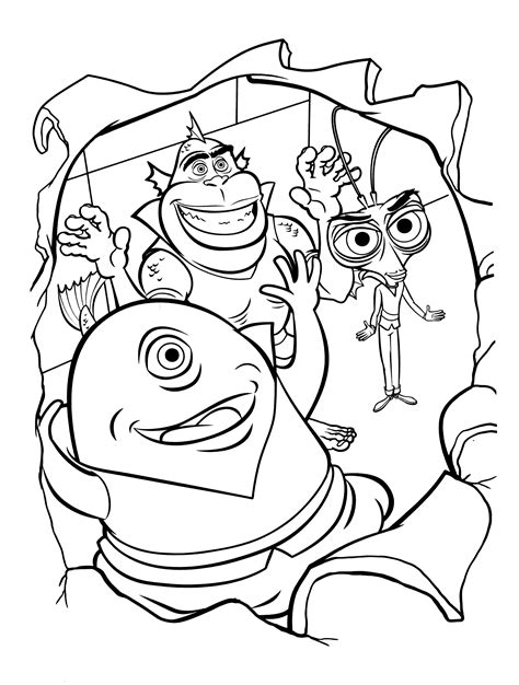 Coloring page Funny monsters assembly