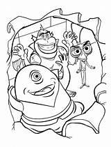 Coloring Monsters Funny Aliens Vs Mostri Disegni Colorear Colorare Colorkid sketch template