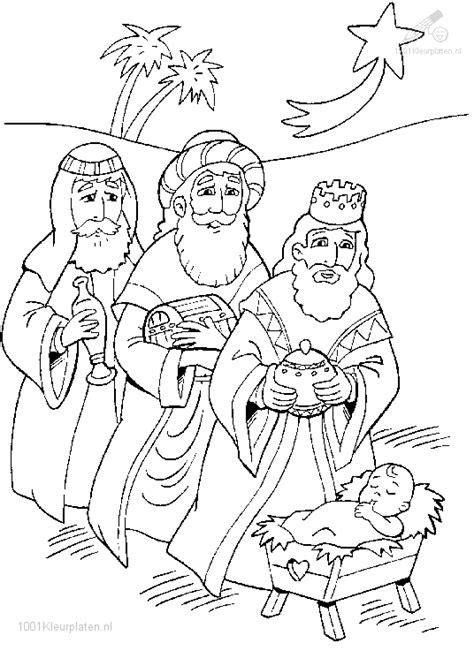 De Drie Wijzen Kleurplaat by Drie Koningen Kleurplaat
