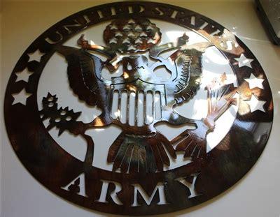 military logo  metal wall art