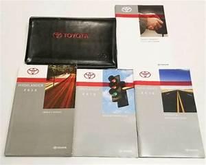 2013 Toyota Highlander Owners Manual Base Se Premium Plus
