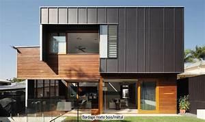 Bardage Façade Maison : 92 best bardages maison images on pinterest arquitetura dream houses and facade ~ Nature-et-papiers.com Idées de Décoration