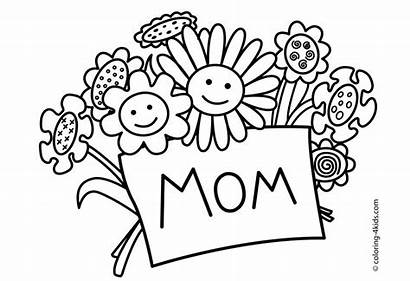 Coloring Pages Mother Printable Mom Mothers Card