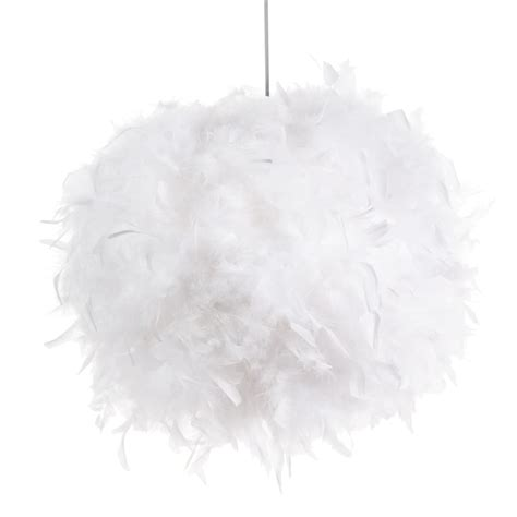 suspension non electrifi 233 e en plumes blanches d 28 cm