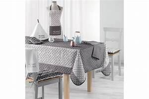 Nappe Rectangulaire Grise : nappe rectangulaire grise impression tachet blanc en ~ Teatrodelosmanantiales.com Idées de Décoration