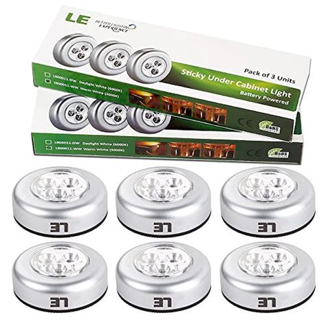 save 62 le 6 pack led battery operated stick on tap