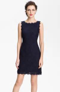 papell boatneck lace sheath dress in blue navy lyst - Papell Bridesmaids