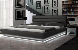 lorezo contemporary platform bed with lights