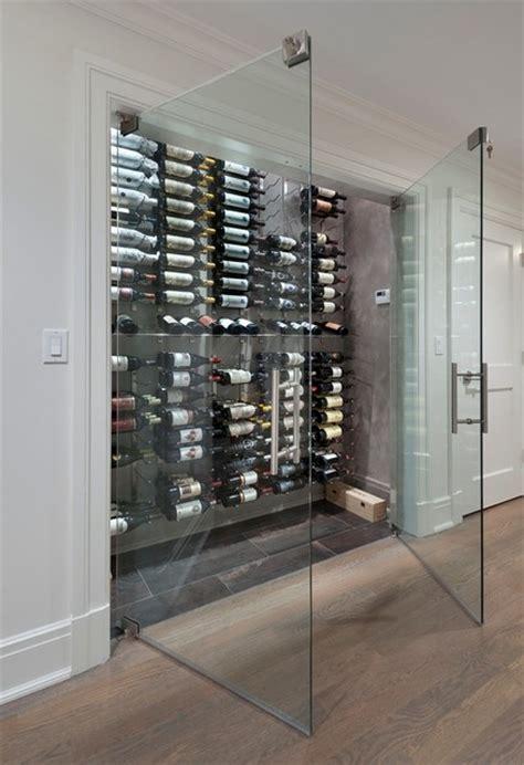 frameless wine room glass doors