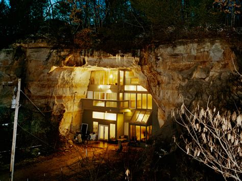 Cave Backyard - family home built in a cave diy cave home