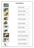 Les animaux / animals in French worksheet   Teaching Resources