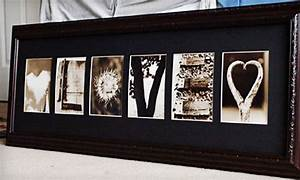 Up to 56 off custom framed letter art groupon goods for Custom framed letter art