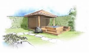 planen visualisieren naturform garten und With whirlpool garten mit kleiner pavillon balkon