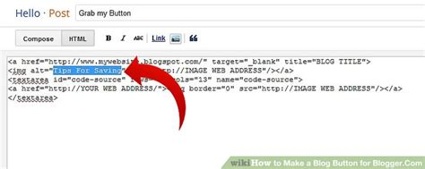 How To Make A Blog Button For Blogger.com