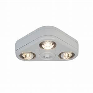 All pro revolve white outdoor integrated led triple head