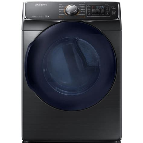 black washer and dryer shop samsung 7 5 cu ft stackable electric dryer with steam