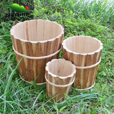 china outdoor decorative wood  flower pot cover