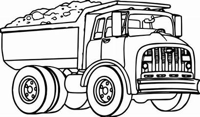 Coloring Pages Truck Dump Transport Trucks Boys