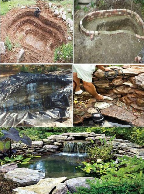 images  ponds  pinterest natural pond backyard waterfalls  pond waterfall