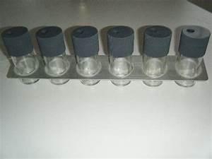 Support à épices : photo pots pices ik a en verre avec support m tal ~ Teatrodelosmanantiales.com Idées de Décoration
