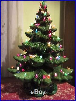 vintage atlantic christmas tree   ceramic high gloss