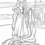 Rapunzel Coloring Tangled Pages Disney Omelet Hannah Montana Printables Template sketch template