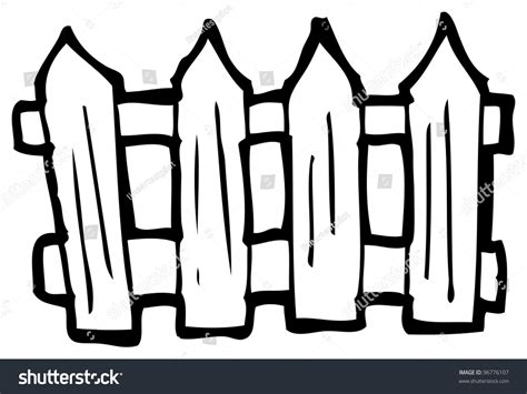Cartoon Fence Stock Illustration 96776107