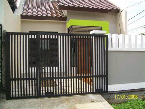 konsep pagar rumah minimalis type  rumah minimalis