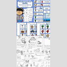 Kindergarten Math  Positional Words  Kindergarten, Book And Sorting
