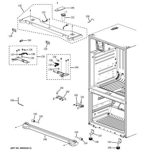 ge bottom mount refrigerator parts model pfsspkwbss sears partsdirect