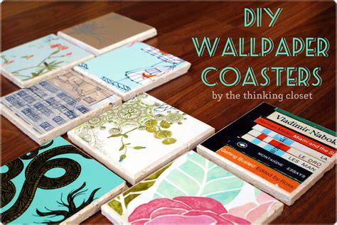 diy coaster drink rings begone diy wallpaper coasters the thinking closet