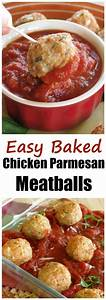 Baked Chicken Parmesan Meatballs - The Dinner-Mom