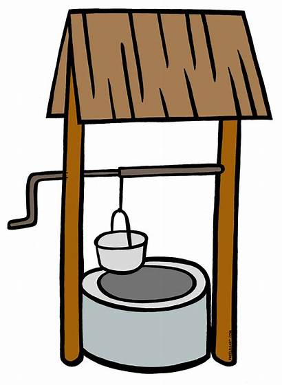Well Water Clipart Wells Pages Colouring Clipground
