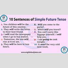 10 Sentences Of Simple Future Tense  English Study Here
