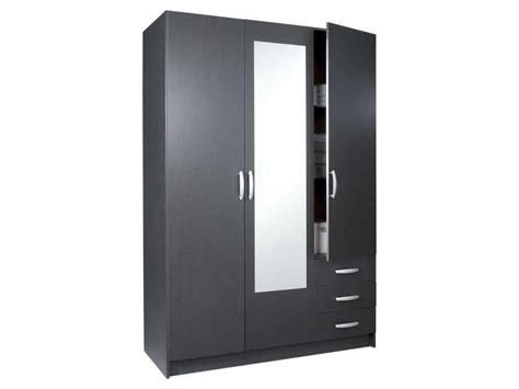 chambre conforama adulte armoire 3 portes 3 tiroirs spot coloris ébène vente de