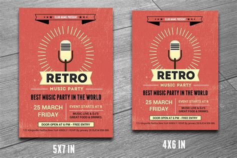 Retro Music Club Party Flyer-v190