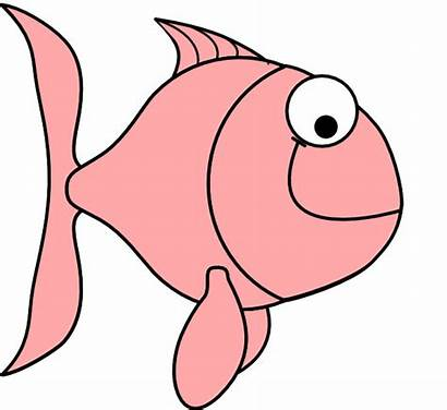 Fish Pink Clip Bubbles Clker Clipart Vector
