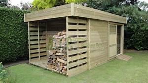 Chalet Bois Toit Plat : cabane de jardin toit plat cabanes abri jardin ~ Melissatoandfro.com Idées de Décoration