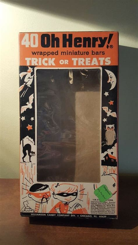 vintage williamson halloween cellophane candy box  henry