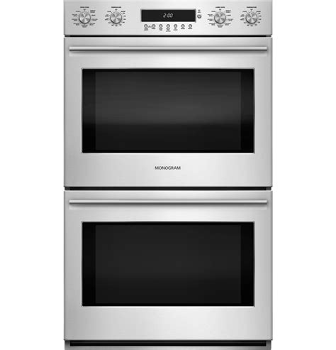 monogram  electronic convection double wall oven zetshss ge appliances