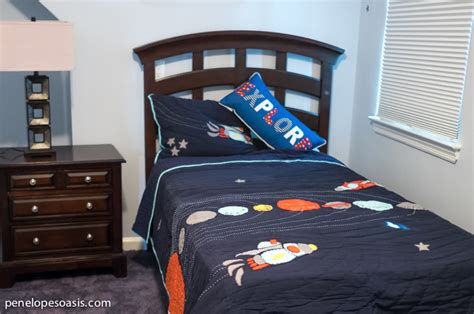 outer space bedroom a young explorer s big boy outer space bedroom 187 penelopes 12757 | outer space bedroom bedding