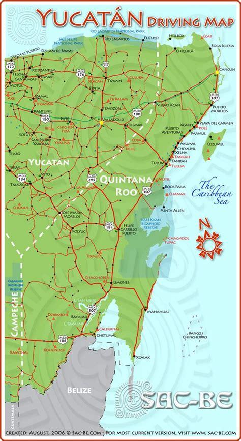 yucatan driving map cancun pinterest travel driving