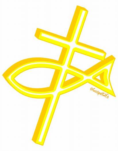 Symbols Christian Fish Cross Clip Clipart Religious