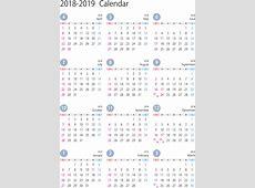 カレンダー 2018 シンプル 2 2019 2018 Calendar Printable with