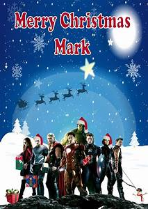 Personalised Avengers Christmas Card
