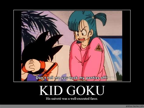 Goku Meme - kid goku anime meme com