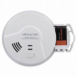 Usi Hardwired Smart Alarm With Smoke  Fire  Carbon