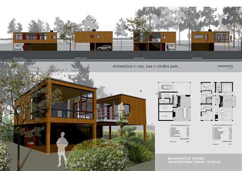 walk out basement floor plans vector architecture presentation layout house plans