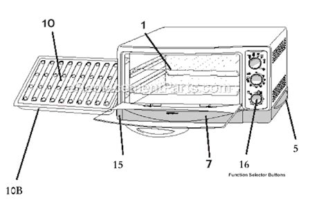 toaster oven parts oster 6299 parts list and diagram ereplacementparts