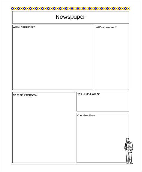 blank newspaper template 42 amazing newspaper templates sle templates